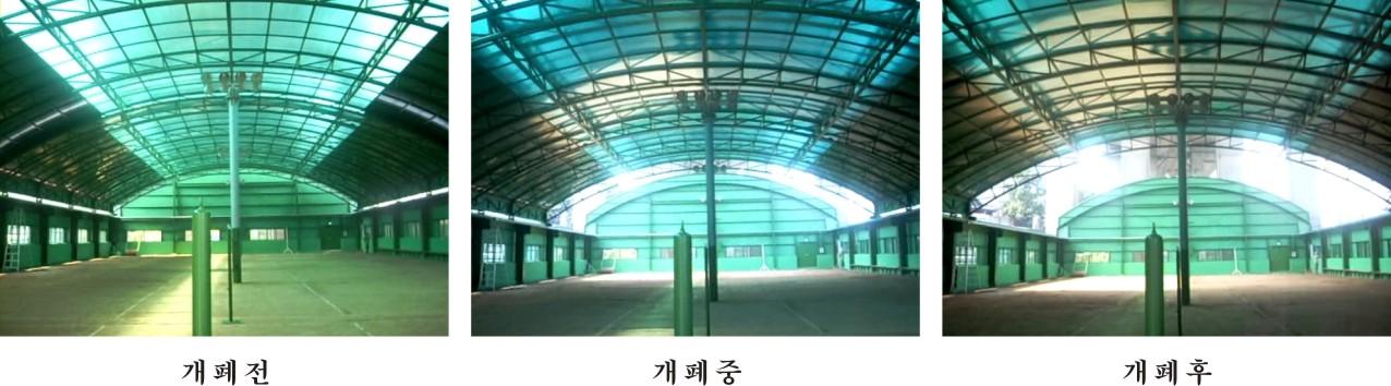 체육시설 지붕개폐장치